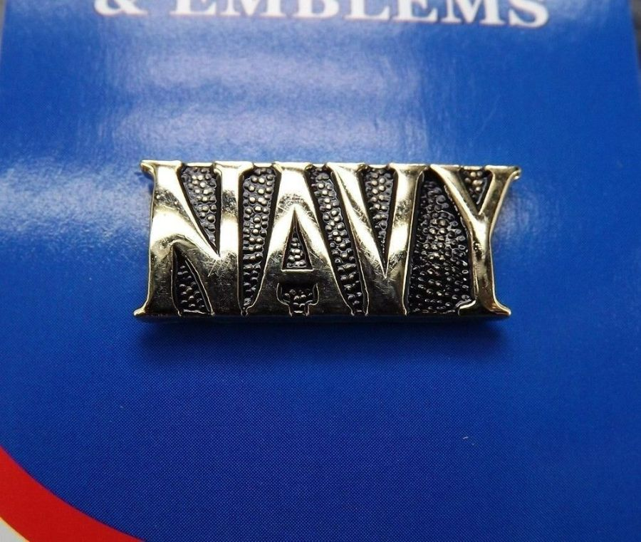 "BRAND NEW Lapel Pin Gold Tone United States Navy NAVY 1"" 1"