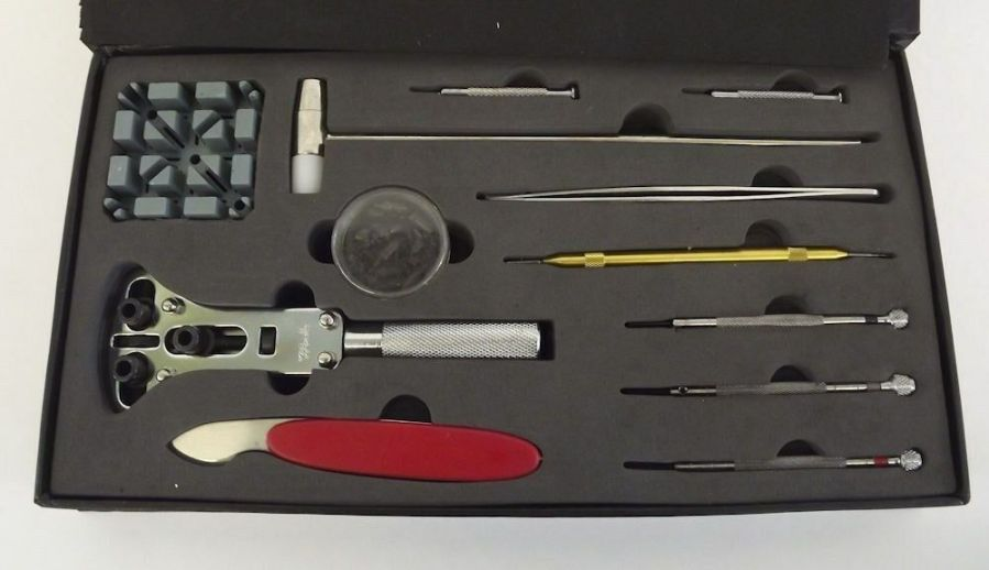 New 29 Piece Watch Repair Kit In Black Magnetic Hard Case Watch Maker Tool 3