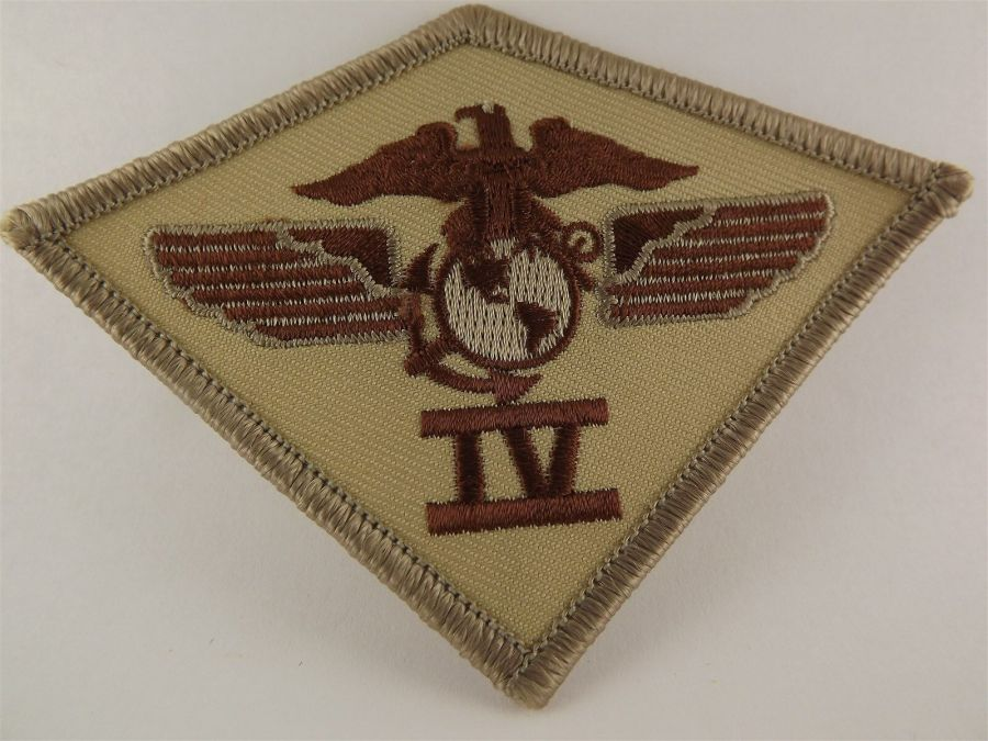 UNITED STATES MARINE USMC 4th Air Wing Division DESERT Iron on Patch BRAND NEW 1