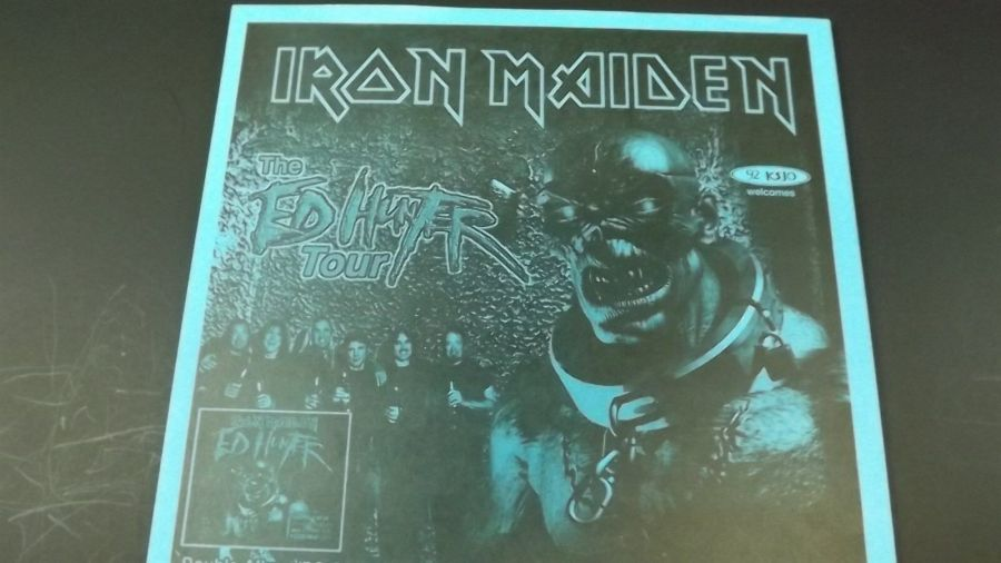 AUTHENTIC 1998 Iron Maiden Ed Hunter Tour Poster Flyer Ad SOULFLY 3