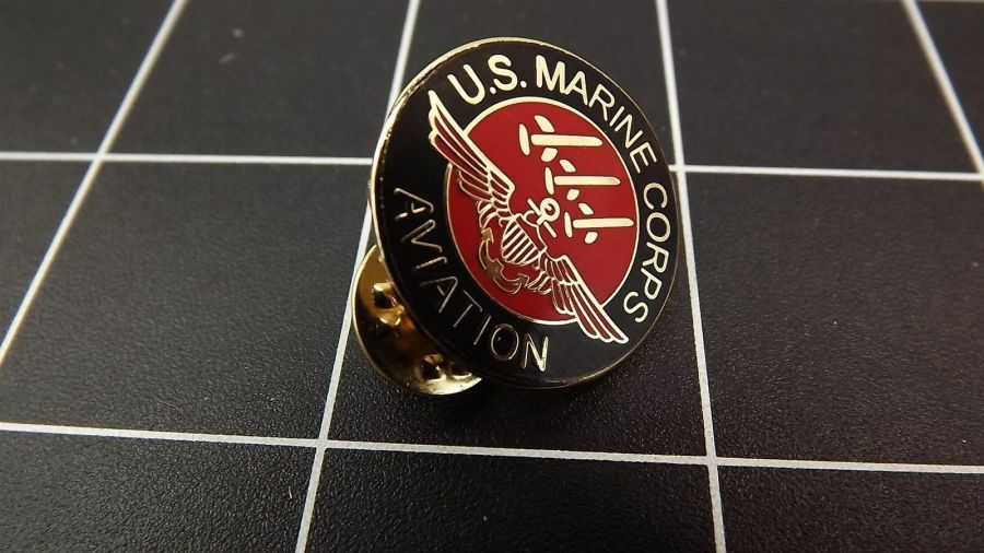 "BRAND NEW Lapel Pin ""USMC AVIATION"" ENAMELED LIFETIME GUARANTEE MARINE CORPS 1"