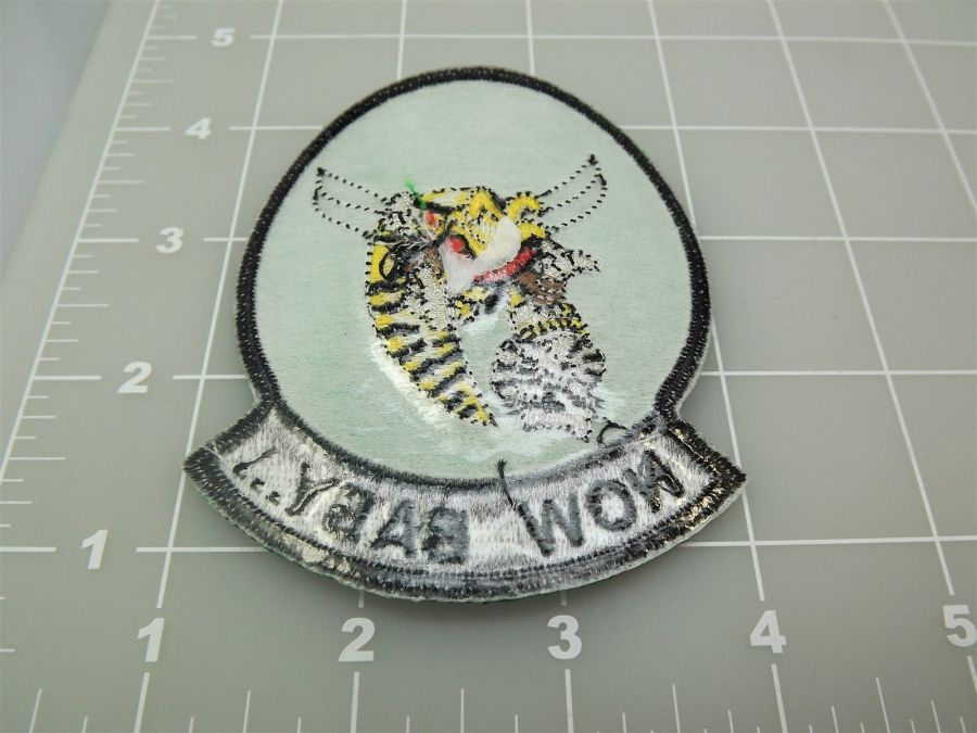 "BRAND NEW U.S. NAVY USN TOMCAT Now Baby... Green & Black Patch 3 3/8"" 3"