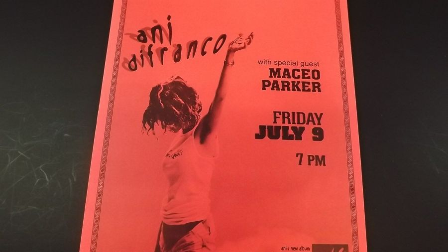 Genuine 1999 ANI DIFRANCO W/ MACEO PARKER Greek Theatre Concert Poster Flyer Ad 4