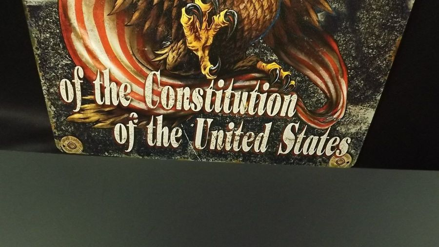 """""""2nd AMENDMENT"""" METAL SIGN 12"""" X 15"""" BRAND NEW Home Protection Constitution 4"""