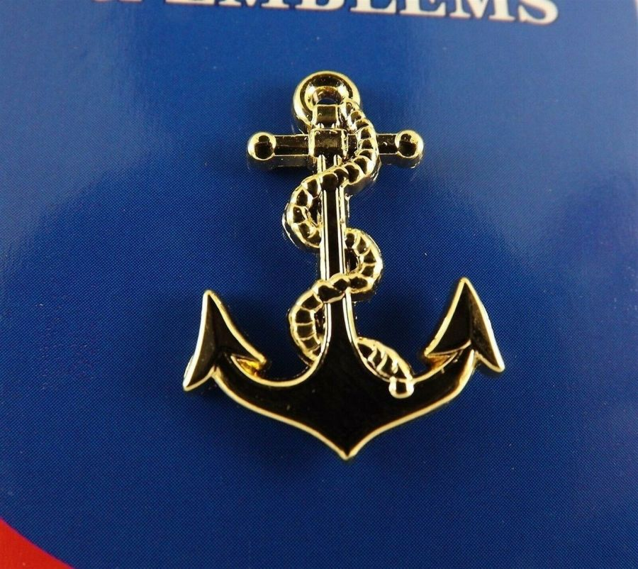 """BRAND NEW Lapel Pin United States Navy ANCHOR Gold Tone 1"""" 1"""