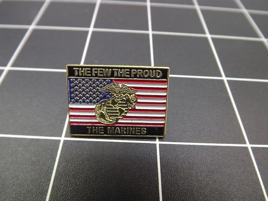 """CLOSEOUT! BRAND NEW Lapel Pin """"THE FEW THE PROUD THE MARINES  USMC 1"""