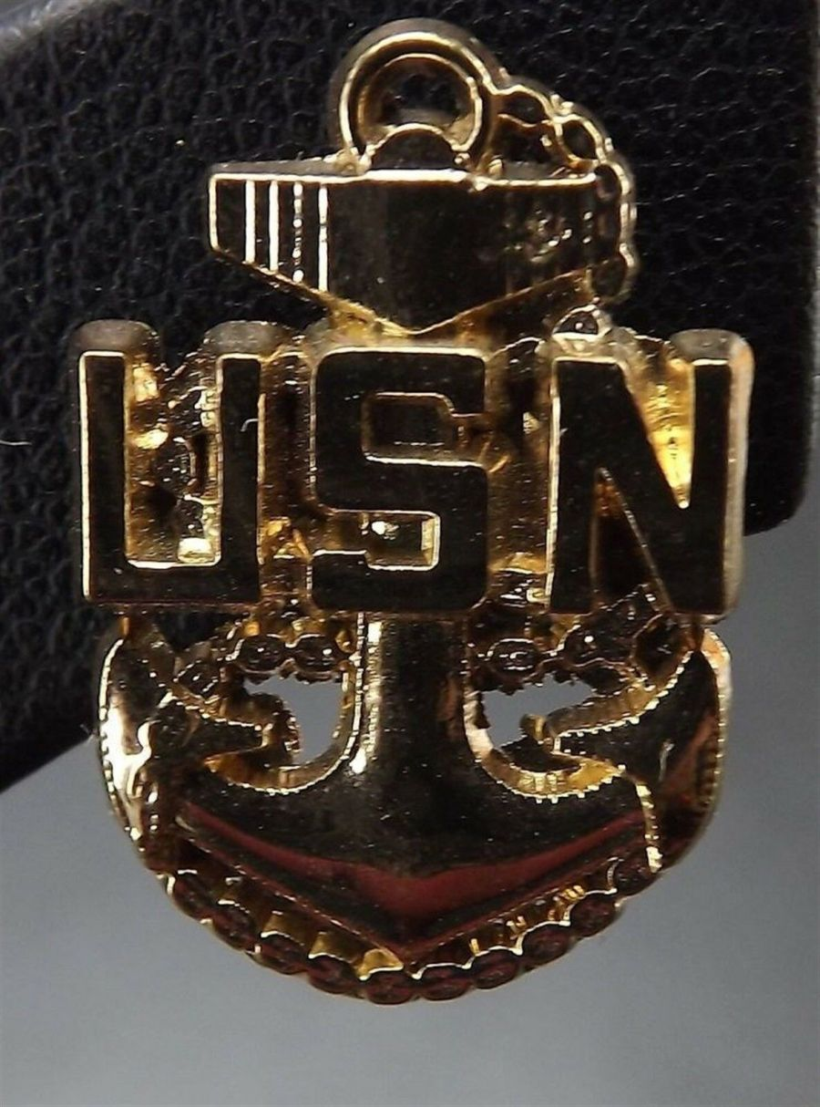 """Lapel pin NEW Badge USN Navy Chief Petty Officer 3/4"""" brand new anchor 1"""