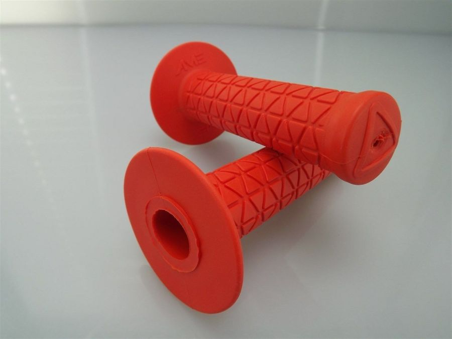 New AME Bicycle BMX TRI Grips Old School BMX Made In The USA  ORANGE 3