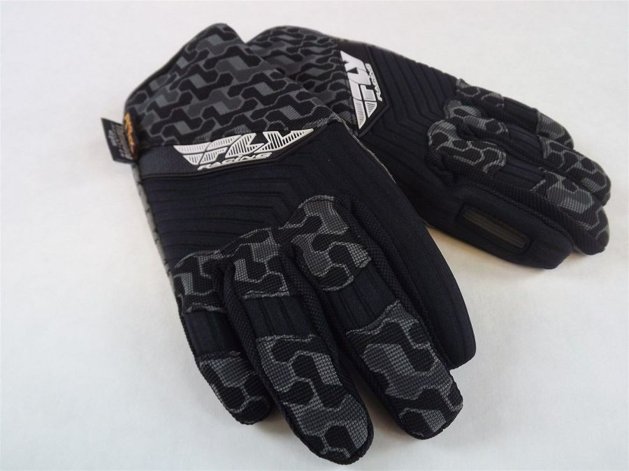 New FLY SWITCH SNOW GLOVE BLACK/GRAY BMX SNOWMOBILE THINSULATE Size 8 (ADULT SM) 4
