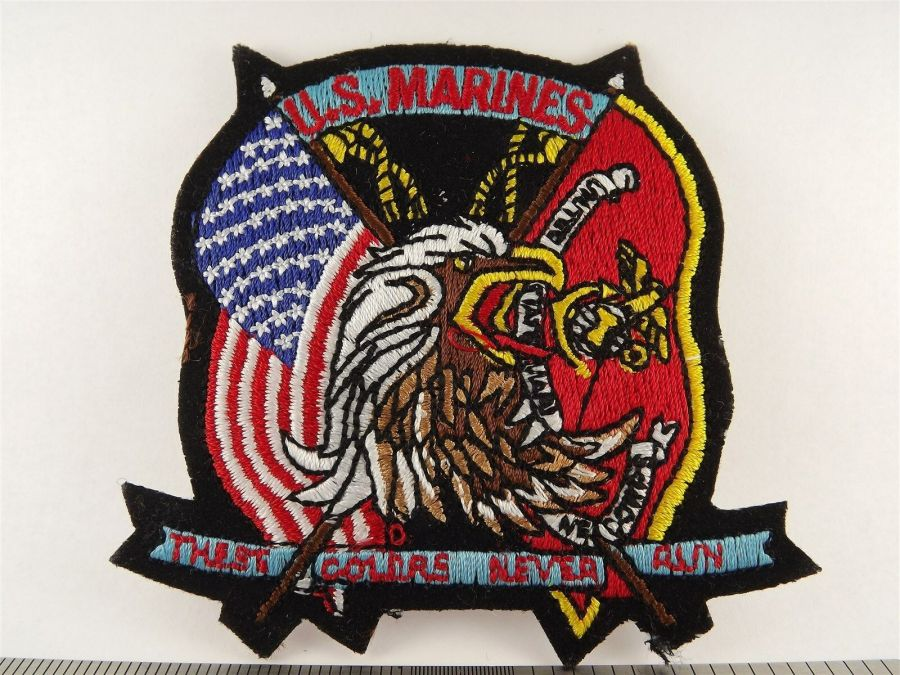 USMC United States Marines Iron on Patch Brand New Logo FLAGS COLORS DON'T RUN 1