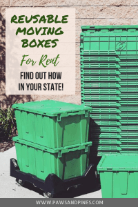 Stack of reusable moving boxes with text overlay Reusable Moving Boxes For Rent: Find Out How In Your State!