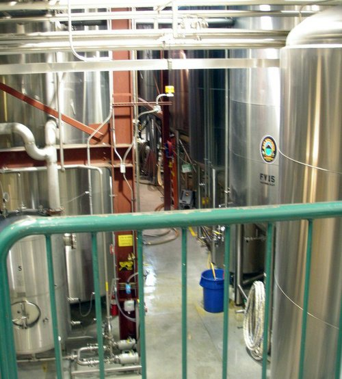 The fermenting room at Deschutes Brewery, Bend Oregon