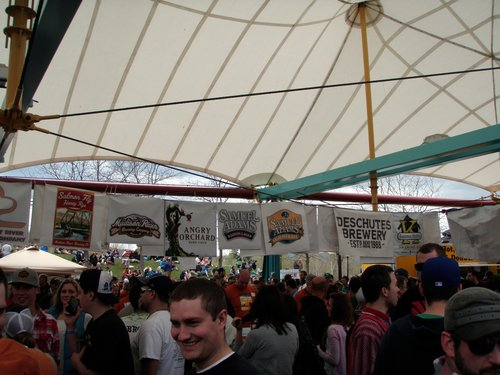 """the """"eye of the storm"""" at the Missoula Brew Fest"""