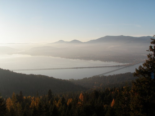 The Grand Finale at the top of Gold Hill overlooking Lake Pend Oreille