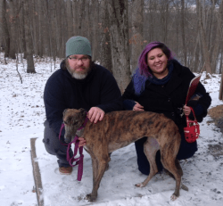 """""""Mac's Tiffany"""" with her forever family, is our first adoption of 2018."""
