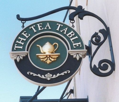 the tea table dimensional sign