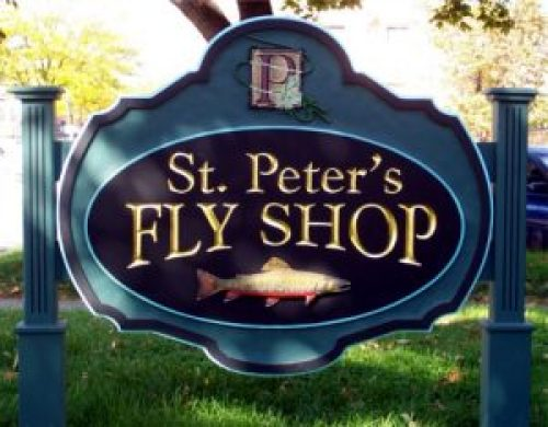 saint peter's fly shop sign