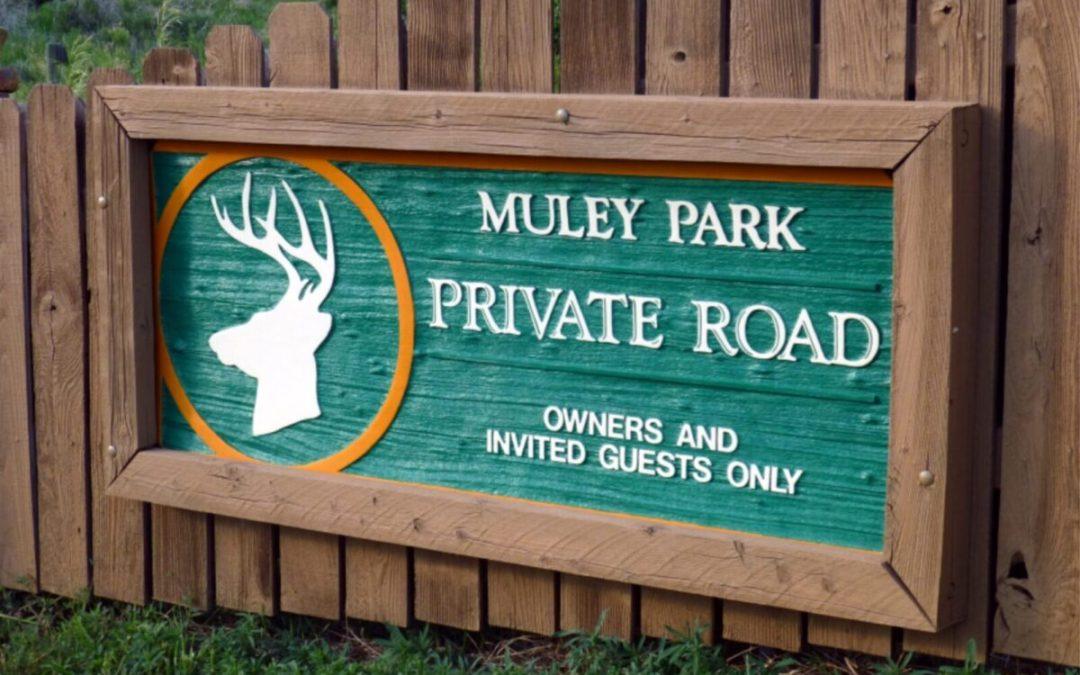 Muley Park Custom Sign Repair