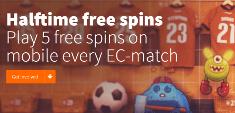 Halftime casino free spins