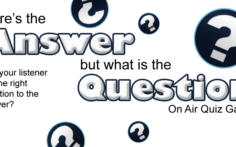ask the answer and get the question on air quiz game