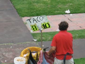 8 tacos for 10 Pesos!