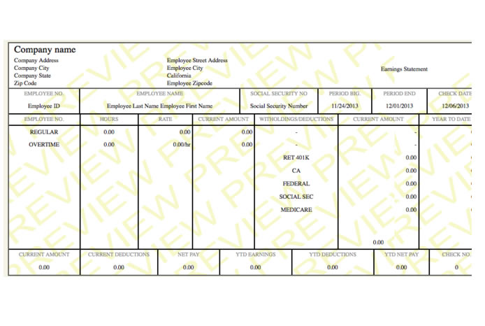 modern pay stub sample paycheck stub online com how to make a pay – Pay Stub Format