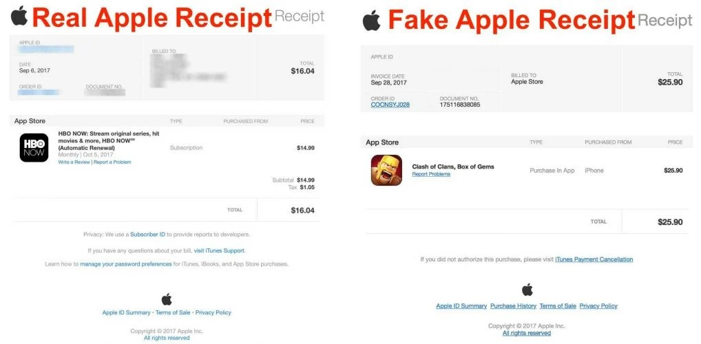 Iphone Scam Email Apple Purchase Successfully Payment