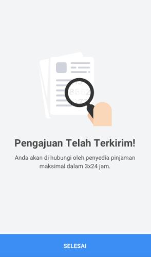 Fitur Kredit Agen - Pengajuan Terkirim