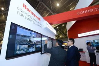 The Honeywell booth at inter airport South East Asia 2017, at the Singapore EXPO.