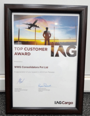 WWG consolidators recognised with top customer award