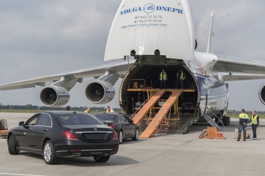 30 Mercs delivered to Angola for President's inauguration by Volga-Dnepr