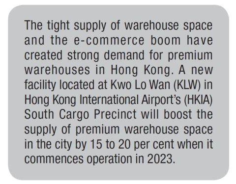 New Premium Warehouse Set to Boost Hong Kong Air Cargo Growth and Facilitate E-commerce