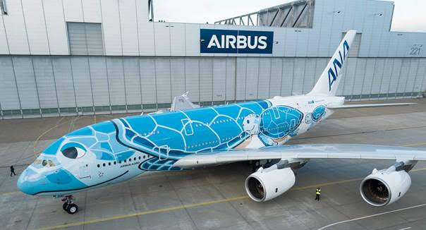First ANA A380 rolls-out of Airbus Paintshop