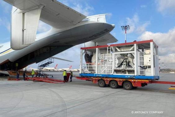 Antonov's AN-22 moves urgent cargo for deep-sea pipeline repair