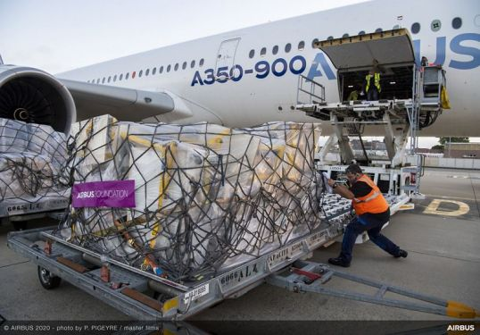 Airbus Foundation and partners transport humanitarian aid to Beirut