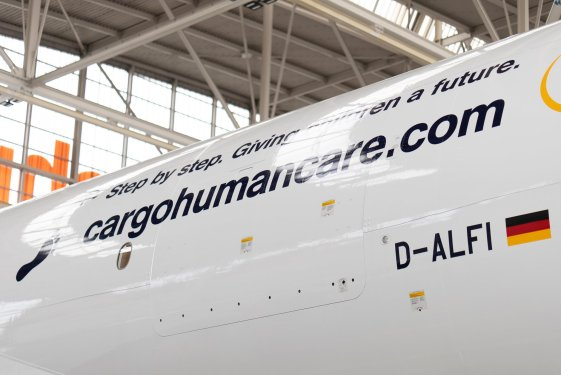 Latest freighter shows Lufthansa's social commitment with new livery