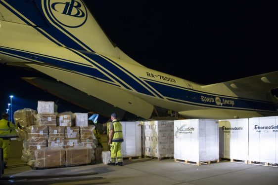 Volga-Dnepr, Scan Global Logistics deliver critical cargo for immunization in Turkmenistan