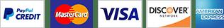 Paga con PayPal Credit o cualquier tarjeta de credito