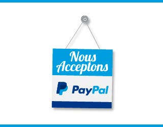 Nous acceptons Paypal