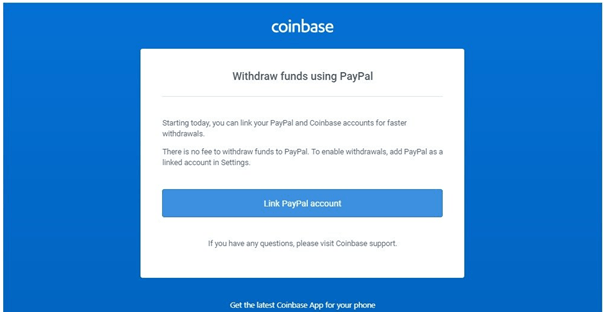 Coin base paypal withdrawals