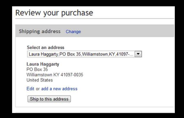 How to change shipping address in Paypal