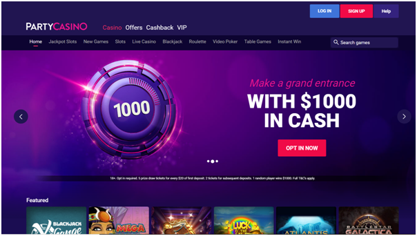 Party Casino- Paypal