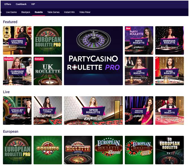 Party casino canada- Roulette