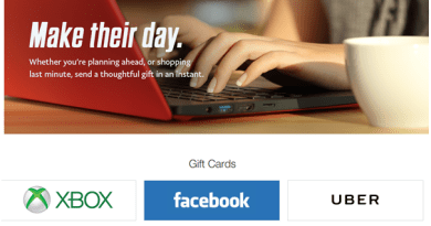 PayPal Digital Gifts