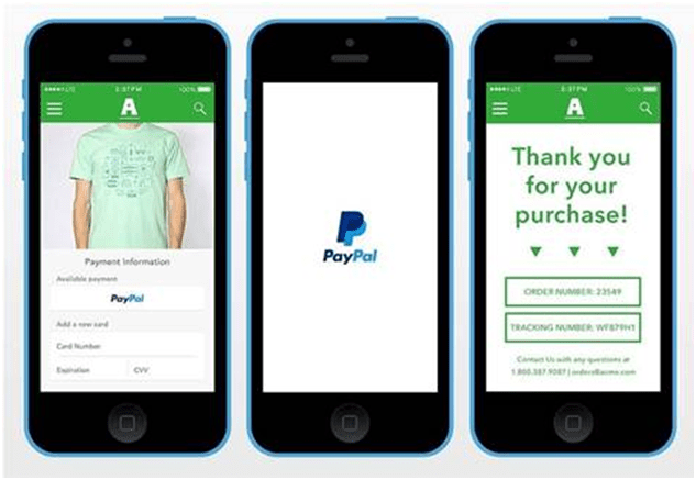 How to use Paypal one touch