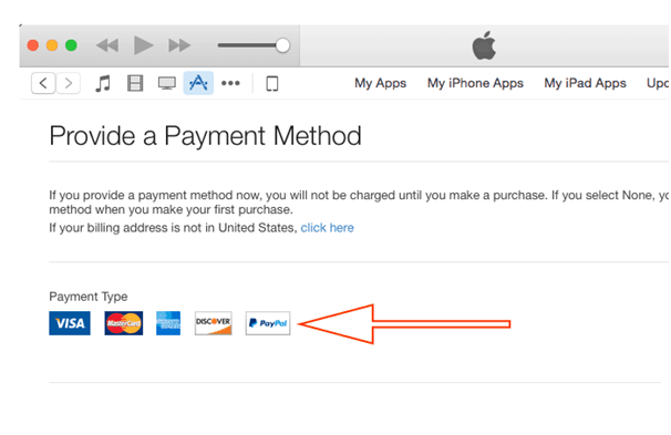 Paypal for Apple iTunes