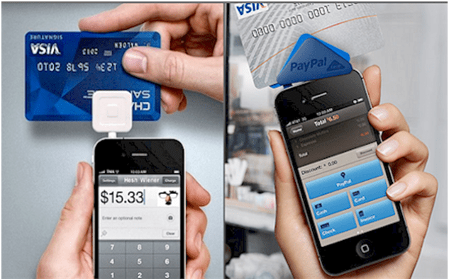 Paypal here and Square