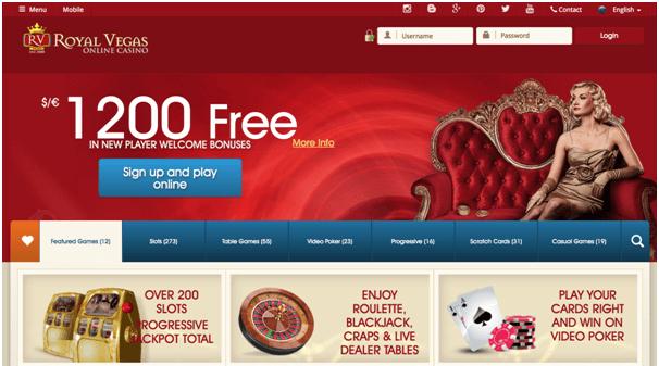Royal Vegas Casino Bonus $1200