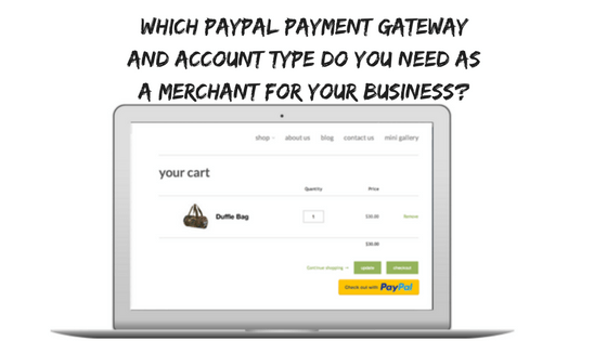 Which Paypal Payment gateway do you need as a merchant