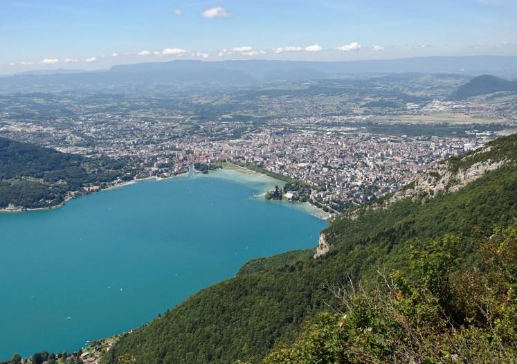 Annecy, vue du mont Veyriez (Haute-Savoie, France)